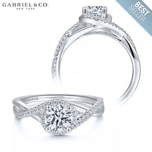 14kt Customizable Round Cut Diamond Ring (0.75ctr-1.50ctr)