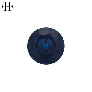 6.5mm Round Blue Sapphire A Mined