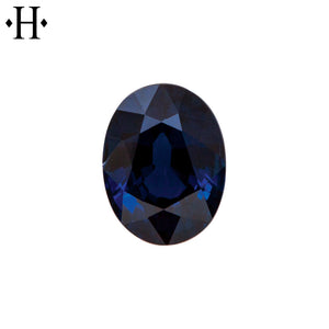 8x6mm Oval Blue Sapphire A Mined