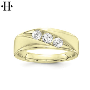 Lab Grown Diamond Solid Gold Ring 7mm