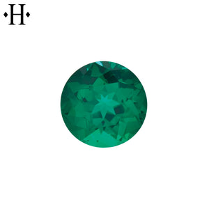 6.5mm Round Emerald AA Lab Grown