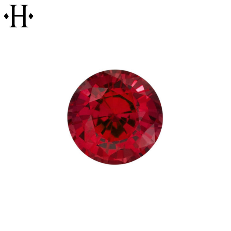6.5mm Round Ruby AA Lab Grown