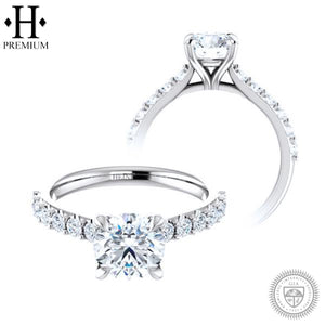 18KW 1.76cts Premium Natural Round Cut Diamond Ring