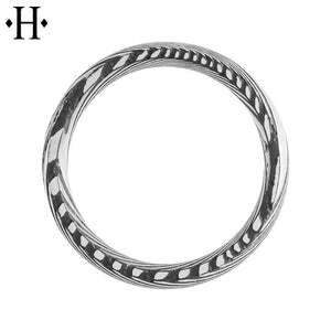 Damascus Steel Comfort Fit Ring 8mm
