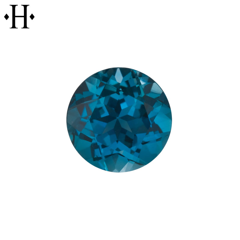 7.0mm Round London Blue Topaz AA Mined
