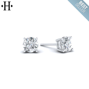 14kt 0.33cts Lab Grown Classic Diamond Earrings