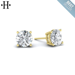 14kt 0.75cts Lab Grown Classic Diamond Earrings