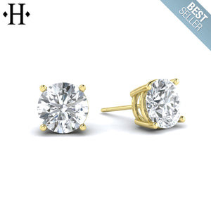 14kt 1.00cts Lab Grown Classic Diamond Earrings