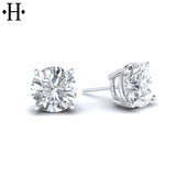 14kt 1.50cts Lab Grown Classic Diamond Earrings