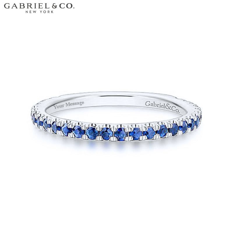 14kt Blue Sapphire Ring 1.9mm