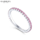 14kt Pink Sapphire Ring 1.9mm
