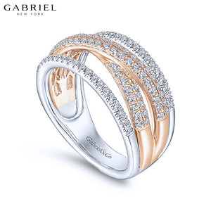 14kt 0.62ctw Natural Diamond Ring