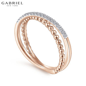 14kt 0.08ctw Natural Diamond Ring