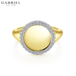 14kt 0.14ctw Natural Diamond Ring