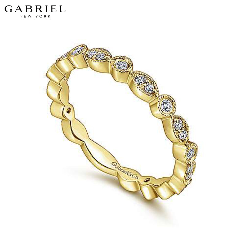 14kt 0.25ctw Natural Diamond Ring 2.4mm