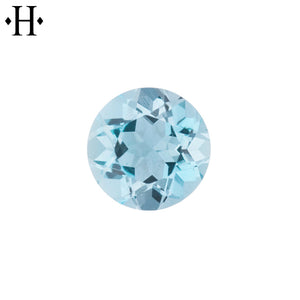 6.5mm Round Aquamarine AA Mined
