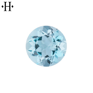 7.0mm Round Aquamarine AA Mined