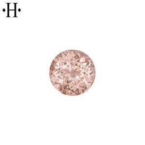 5.0mm Round Peach Morganite AA Mined