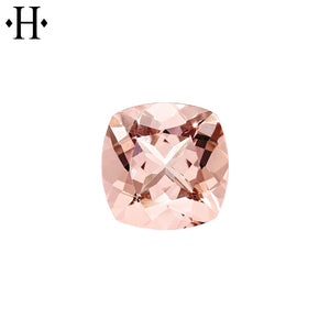6.0mm Cushion Peach Morganite AA Mined