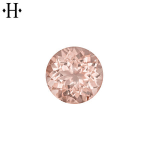 6.0mm Round Peach Morganite AA Mined