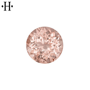 6.5mm Round Peach Morganite AA Mined
