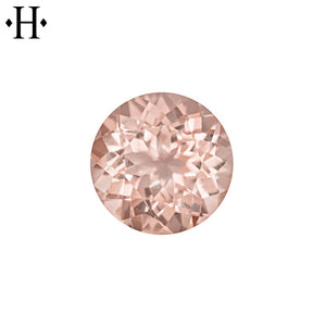 7.0mm Round Peach Morganite AA Mined