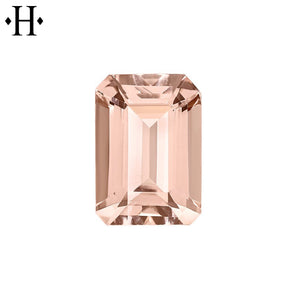 8x6mm Emerald Peach Morganite AA Mined