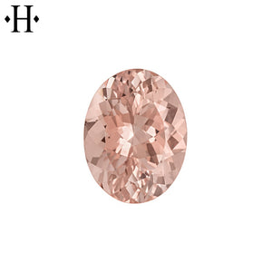 8x6mm Oval Peach Morganite AA Mined