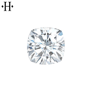 6.5mm Cushion Moissanite AA Lab Grown
