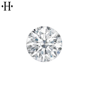 6.5mm Round Moissanite AA Lab Grown