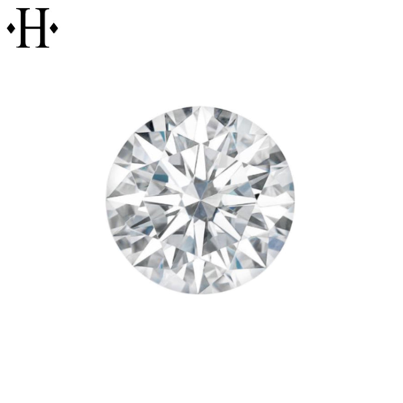 7.5mm Round Moissanite AAA Lab Grown