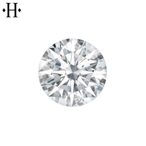 7.5mm Round Moissanite AA Lab Grown