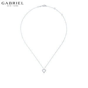 14kt 0.11ctw Natural Diamond Necklace