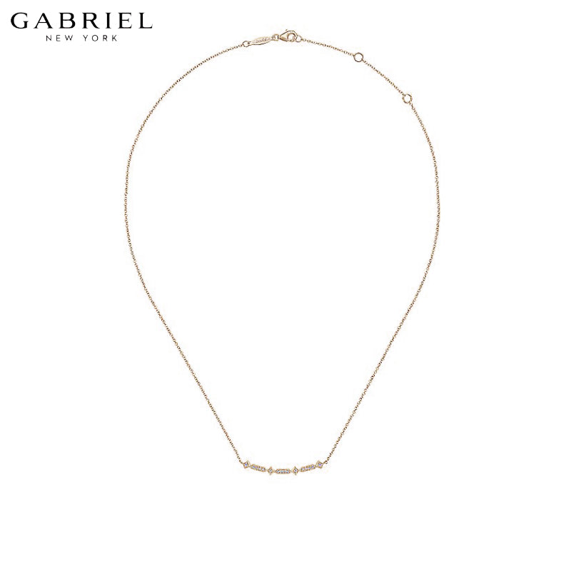 14kt 0.07ctw Natural Diamond Necklace