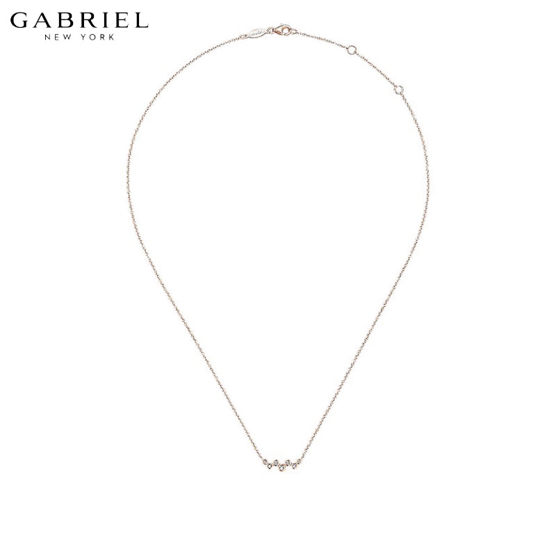 14kt 0.08ctw Natural Diamond Necklace