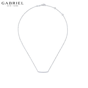 14kt 0.09ctw Natural Diamond Necklace