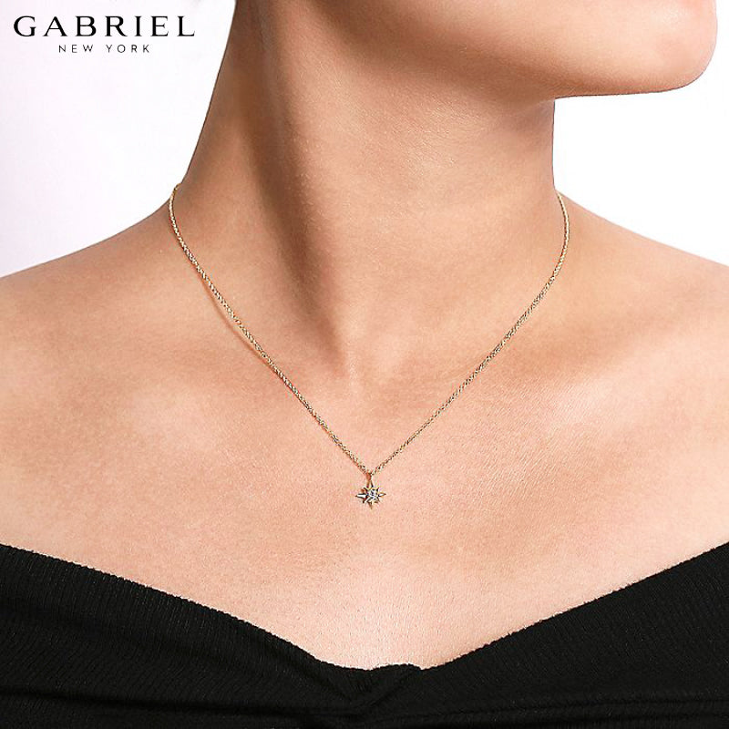 14kt 0.03ctw Natural Diamond Necklace