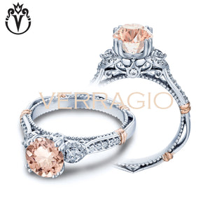 14kt Round Morganite Parisian Ring