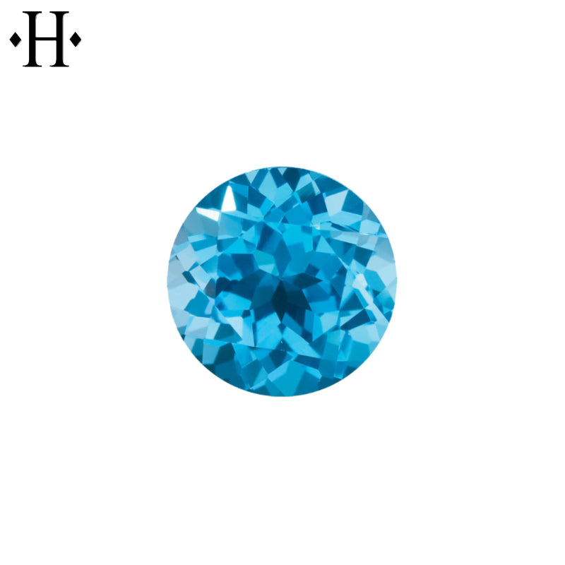 6.5mm Round Swiss Blue Topaz AA