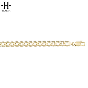 10kt 5.8mm Italian Solid Curb Necklace