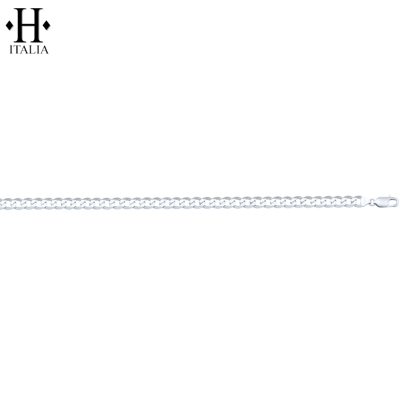 10kt 3.0mm Italian Solid Curb Necklace