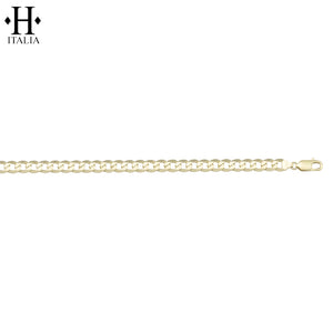 10kt 3.7mm Italian Solid Curb Necklace