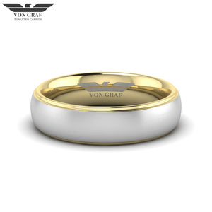 Yellow Gold PVD Tungsten Carbide Ring 6mm