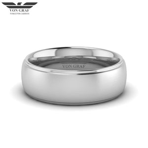Tungsten Carbide Luxury Fit Ring 8mm
