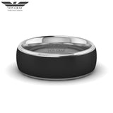 Jet PVD Tungsten Carbide Luxury Fit Ring 8mm