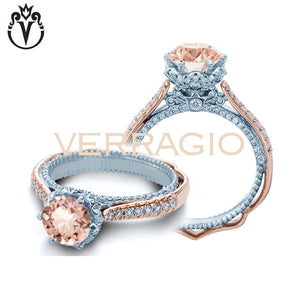 18kt Round Morganite Venetian Ring