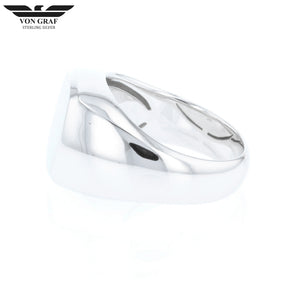 Steling Silver Cushion Signet Ring