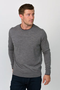 Merino Double Crewneck Sweater