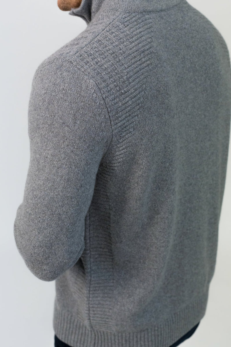 Cashmere Half Zip Sweater