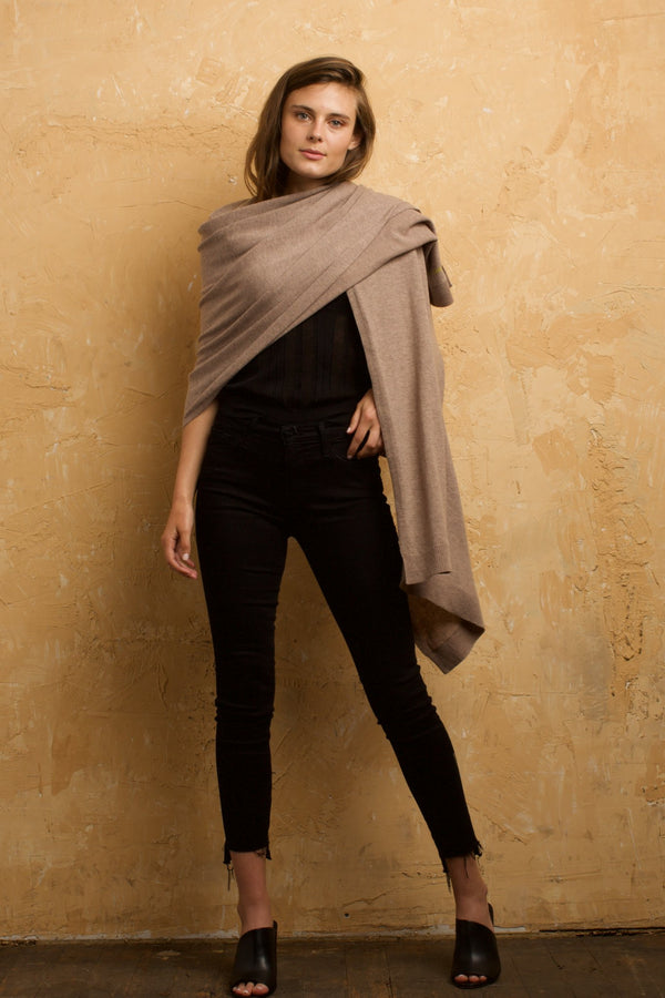 Cashmere Blend Shawl Oat